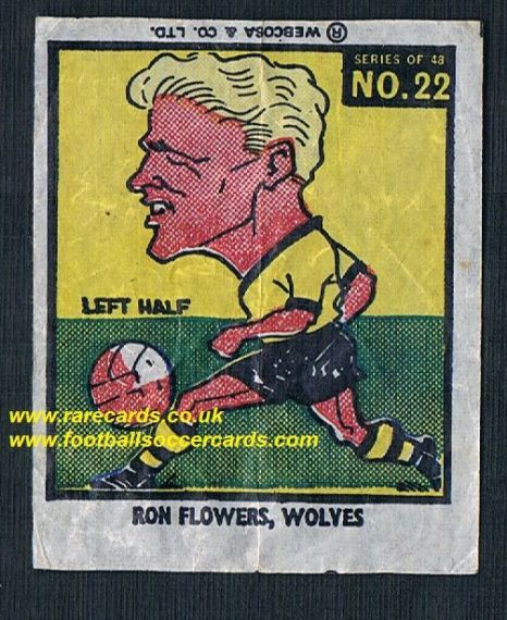 1960 Webcosa Wolves Ron Flowers original wax paper gum insert